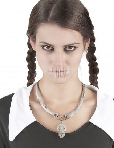 Collana teschio adulto Halloween-1