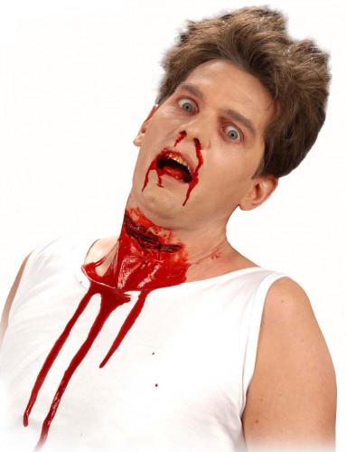 Finta piaga gola tagliata adulto Halloween