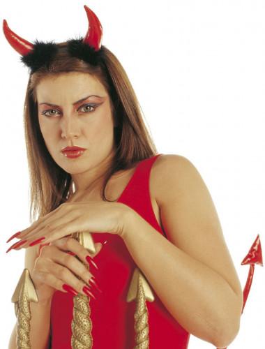 Corna da diavolo rosso adulto halloween