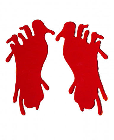 Tracce di piedi insaguinati Halloween