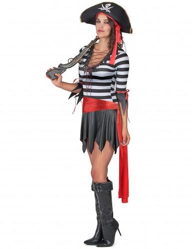 Costume pirata con minigonna donna-1