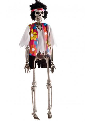 Decorazione da appendere scheletro hippy Halloween