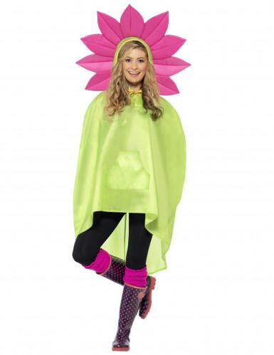 Poncho fiore adulto