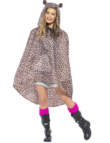 Poncho leopardo adulto