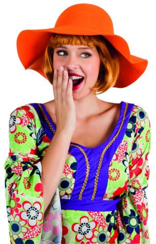 Cappello estivo arancione donna