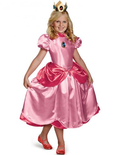 Costume da principessa Peach™ deluxe bambina
