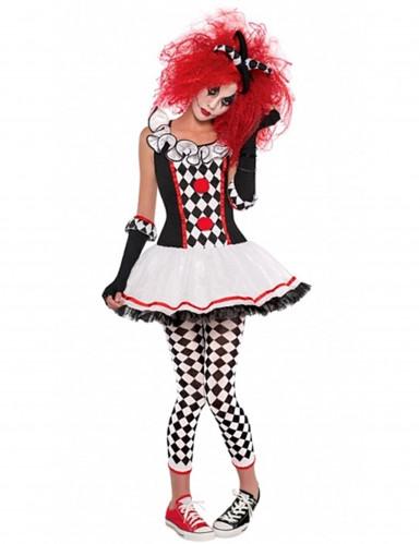 Costume da pierrot per adolescente Halloween