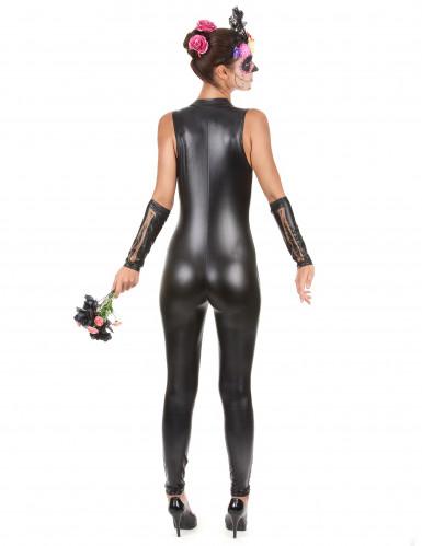 Costume scheletro colorato sexy Halloween-2