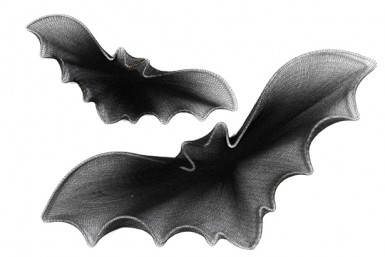 Set di decorazioni pipistrelli Halloween