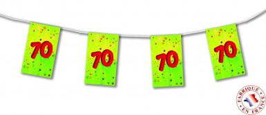 Ghirlanda di carta 70 anni