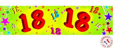 Banner di carta 18 anni