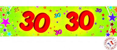 Banner di carta 30 anni