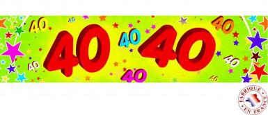 Banner di carta 40 anni