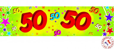Banner di carta 50 anni