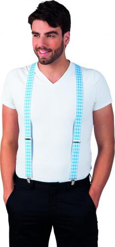 Bretelle bianche e blu