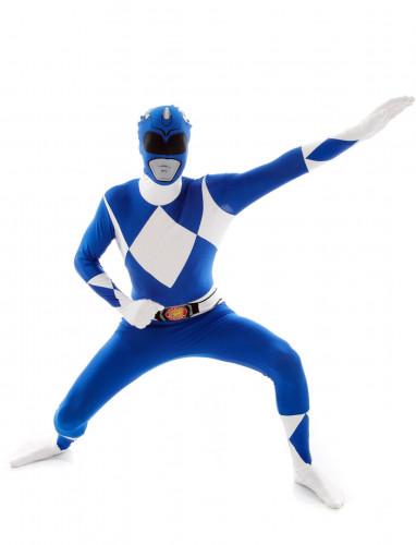 Costume seconda pelle Morphsuits™ Power Rangers™ blu adulto