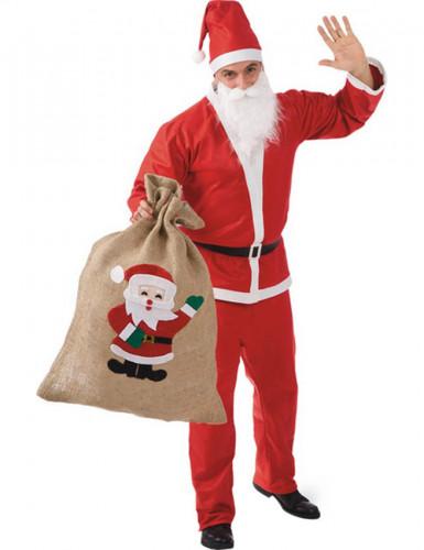 Sacco di juta Babbo Natale