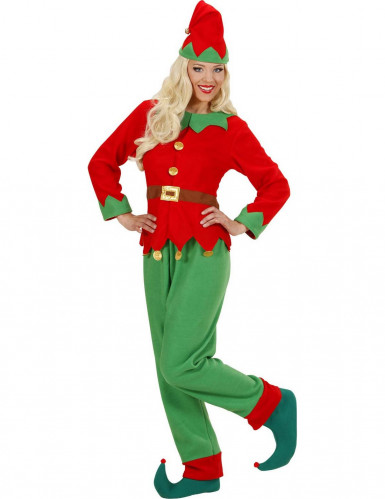 Costume aiutante elfo di Natale donna