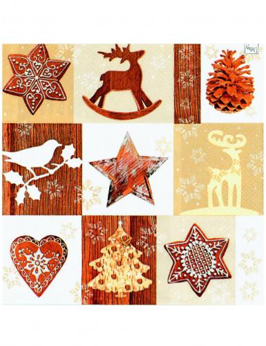 20 tovaglioli di carta natale in montagna - Tovaglioli di carta decorati ...