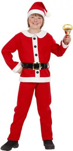 Costume da Babbo Natale con finti bottoni per bambino
