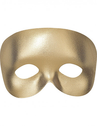 Mezza maschera oro adulto