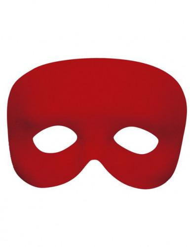 Mezza maschera rossa adulto