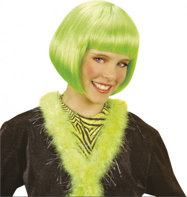 Parrucca corta cabaret verde bambina