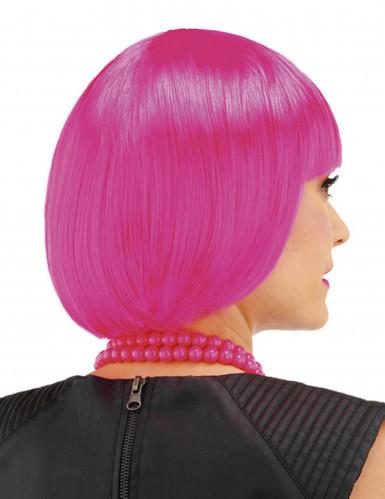 Parrucca corta cabaret rosa bambina-1