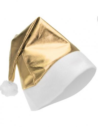 Cappellino di Natale oro metallizzato adulto