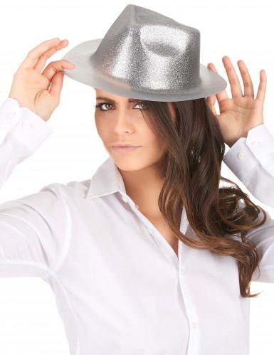 Cappello di paillette argentate da adulto-1
