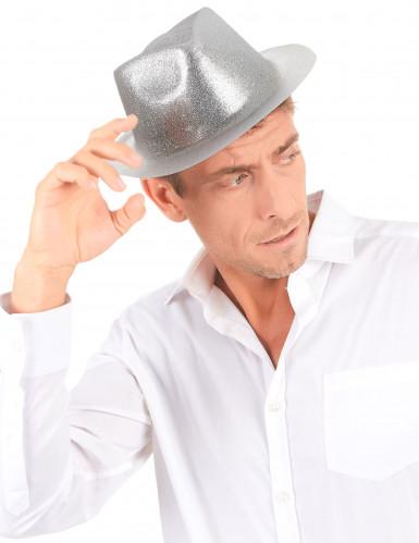 Cappello di paillette argentate da adulto-2