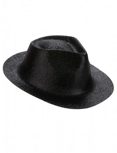 Cappello con paillettes nero