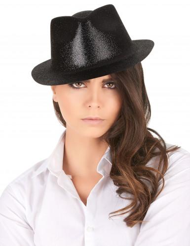 Cappello con paillettes nero-1