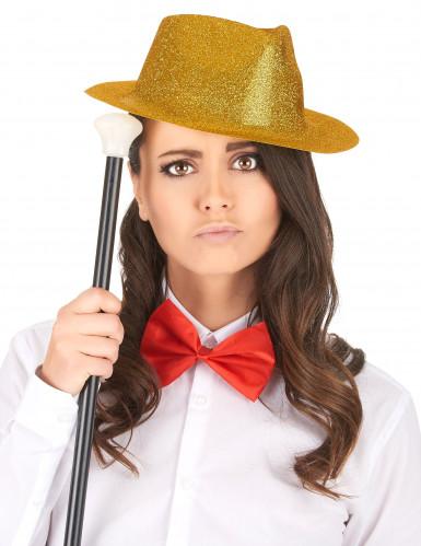 Cappello borsalino con brillantini dorati per adulto-1