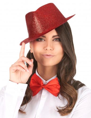 Cappello con paillettes rosso-1