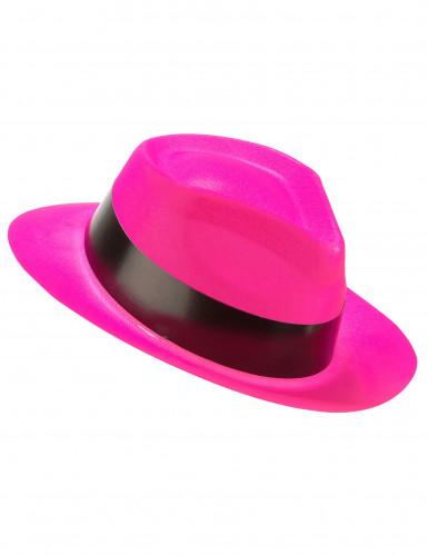 Cappello borsalino rosa fluorescente
