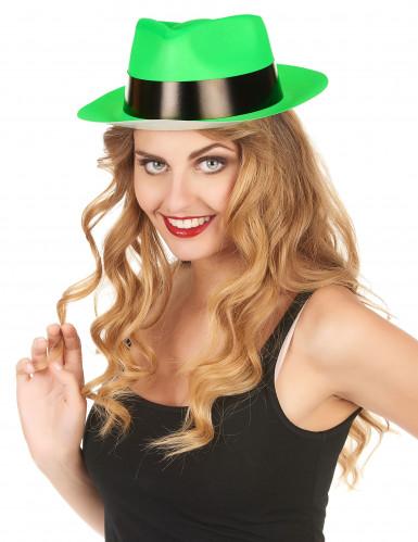 Cappello borsalino verde fluorescente-1