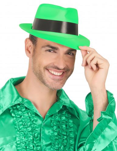 Cappello borsalino verde fluorescente-2
