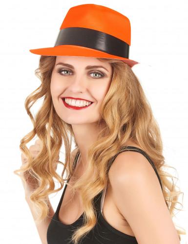 Cappello borsalino arancione fluorescente-1