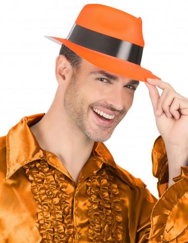 Cappello borsalino arancione fluorescente-2