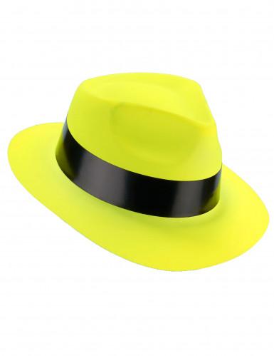 Cappello borsalino giallo fluorescente