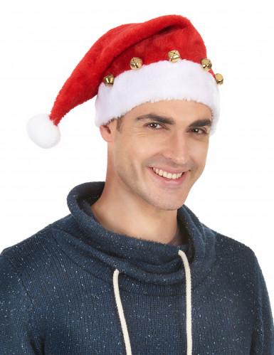 Cappello Babbo Natale con sonagli-1