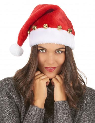 Cappello Babbo Natale con sonagli-2