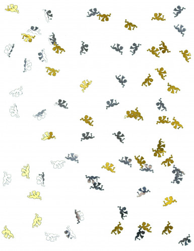 Coriandoli da tavola angioletti oro e argento-1