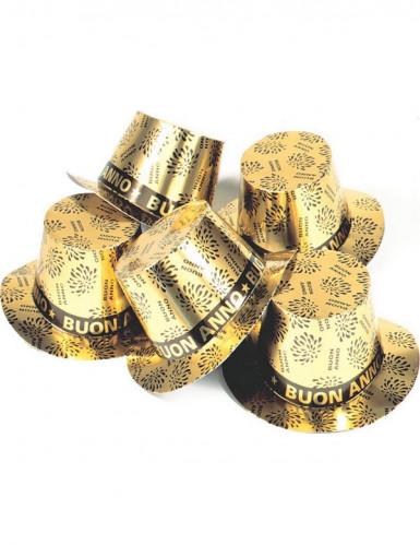 Cappello a cilindro dorato Buon Anno