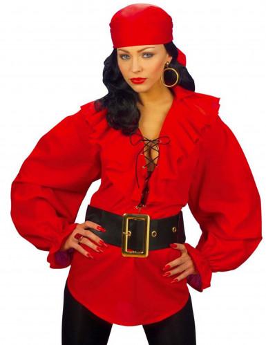 Camicia rossa pirata donna