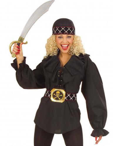 Camicia nera pirata donna