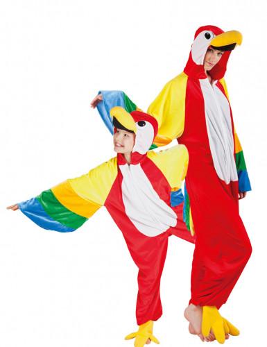 Costume coppia di pappagalli padre e figlio