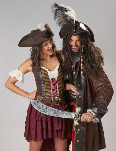Costume da pirata avventuriera donna-1