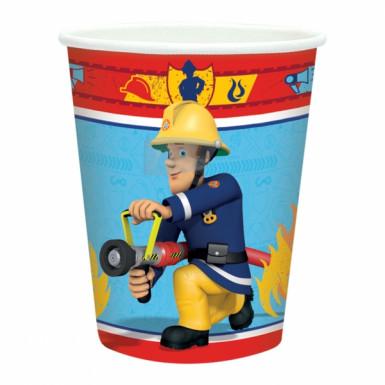 8 bicchieri Sam il pompiere™ in cartone